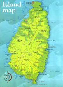 St Lucia map
